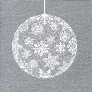 Serviettes x20 intissé boule de Noël 40x40 cm 58513