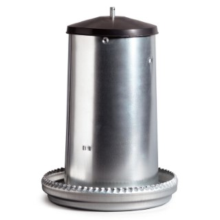 Mangeoire trémie en acier galvanisé de 18 kg Ø 39 cm 590929