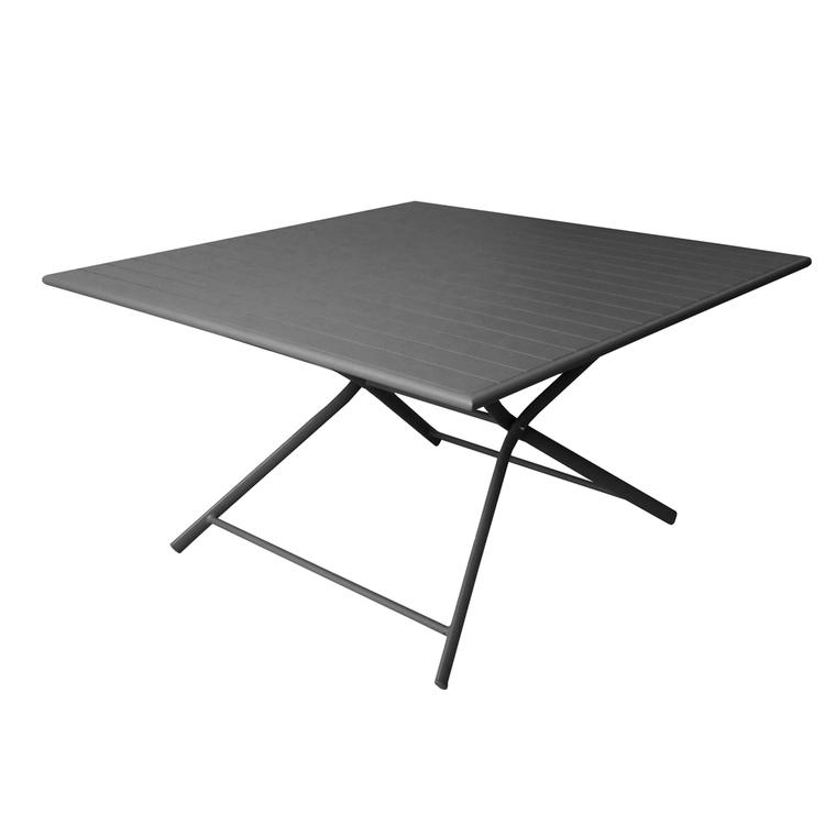 Table pliante carrée Max grise 130 x 130 x 73 cm 501809