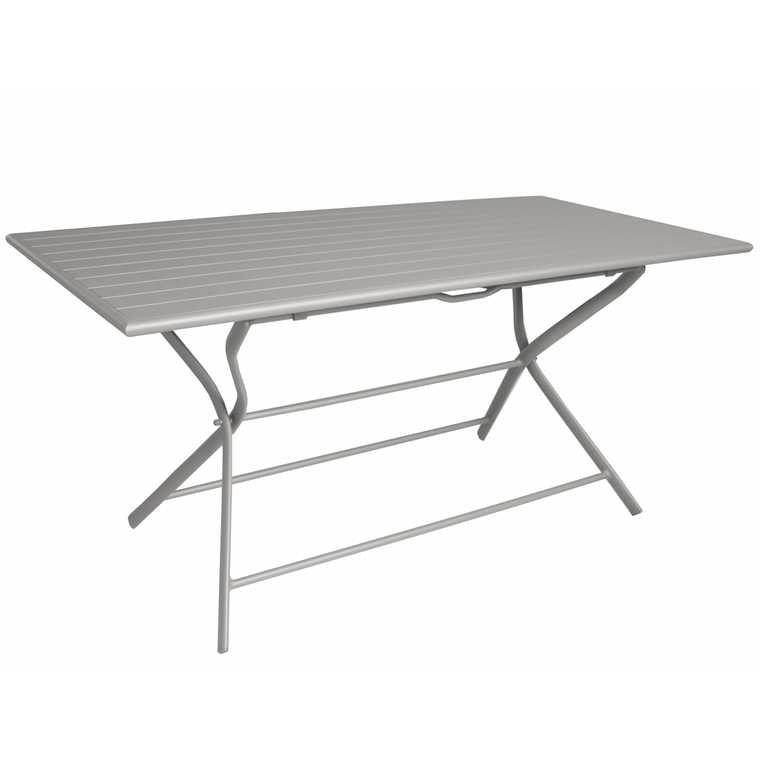 Table pliante rectangulaire Max taupe 160 x 78 x 73 cm 501812