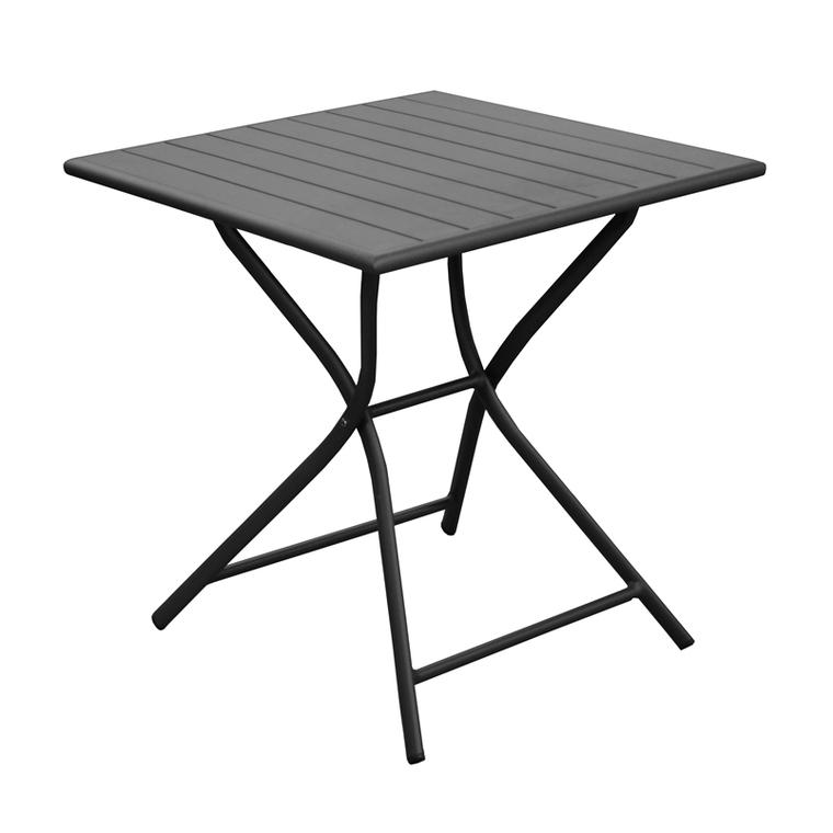 Table pliante carrée Max grise 70 x 70 x 74 cm 501814