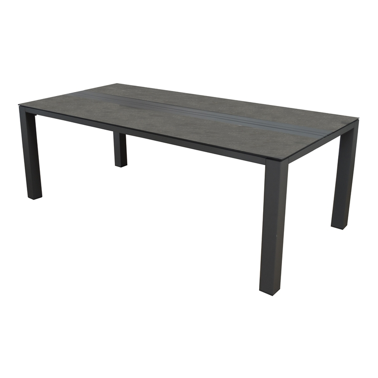 Table Orba grise en aluminium 180 x 90 x 74 cm 501817