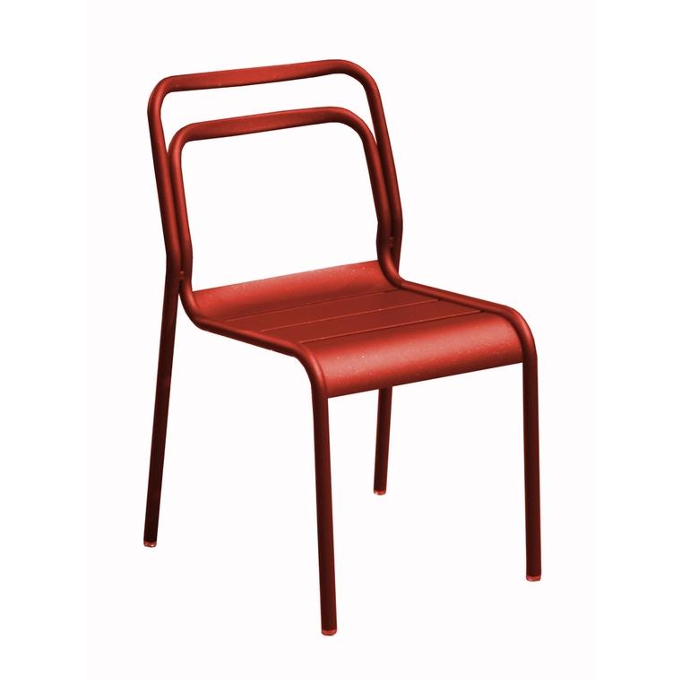 Chaise Oro rouge en aluminium 51 x 58 x 82 cm 501838