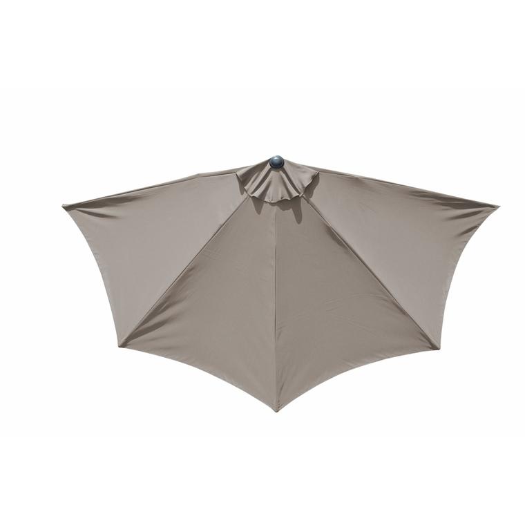 Demi-parasol coloris taupe Ø 300 cm 501845
