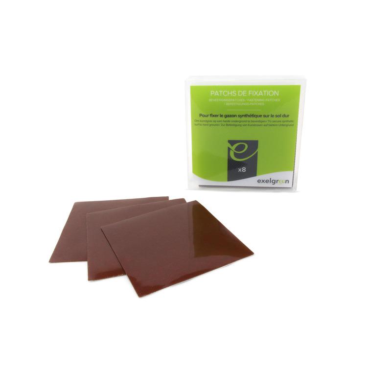 Patch de fixation pour gazon synthétique marron par 8 504045