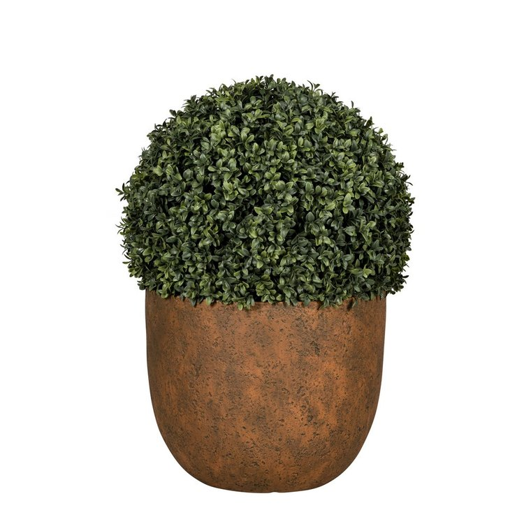 Pot rond Beaumont coloris rusty de 8 L Ø 30 x 25 cm 504176