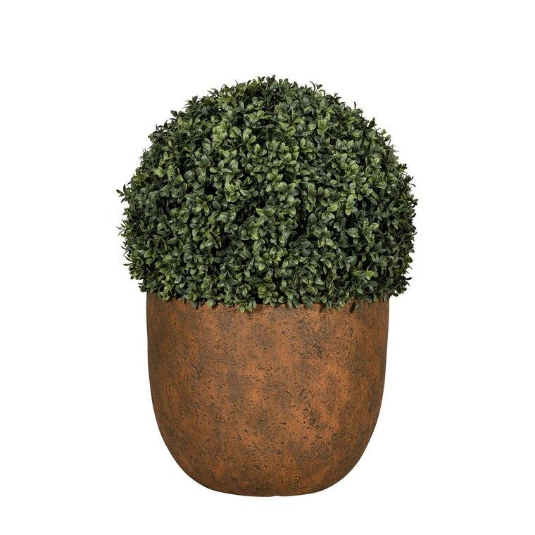 Pot rond Beaumont coloris rusty de 14 L Ø 37 x 30 cm 504177