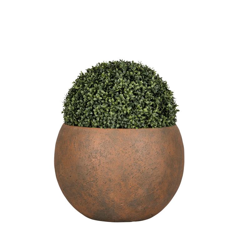 Pot boule Beaumont coloris rusty de 3 L Ø 24,5 x 17,5 cm 504181