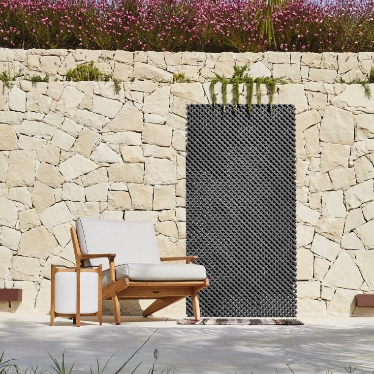 Treillis synthétique coloris gris 60 x 120 cm 504184