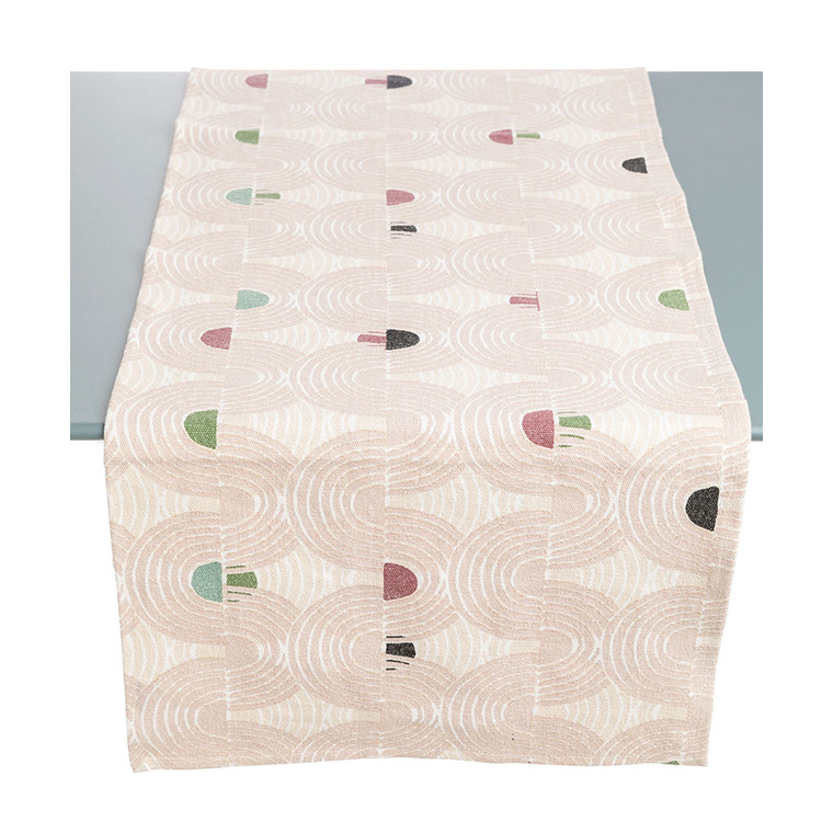 Chemin de table en lino rose de 50 x 150 cm 504243
