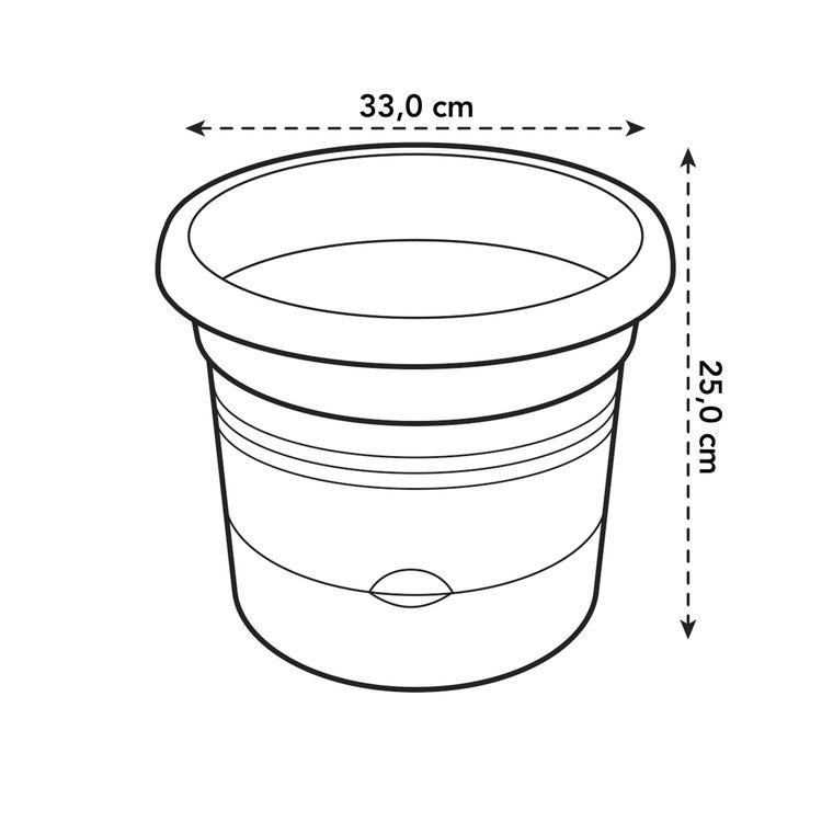 Pot de culture à tomate green basics de 10 L coloris noir Ø 33 x 25 cm 504529
