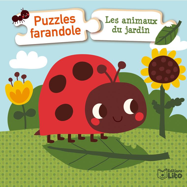Les Animaux du Jardin Puzzles Farandole 1 an Éditions Lito 504713