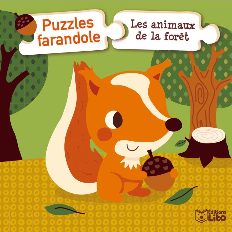 Les Animaux de la Forêt Puzzles Farandole 1 an Éditions Lito 504716