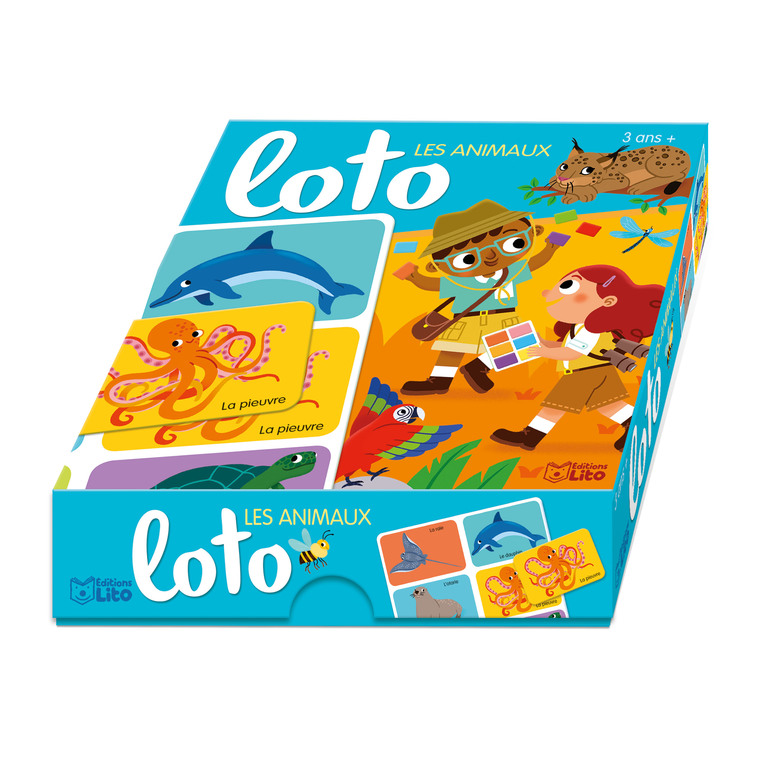 Loto Les Animaux Ma Boîte à Jeux 3 ans Éditions Lito 504721