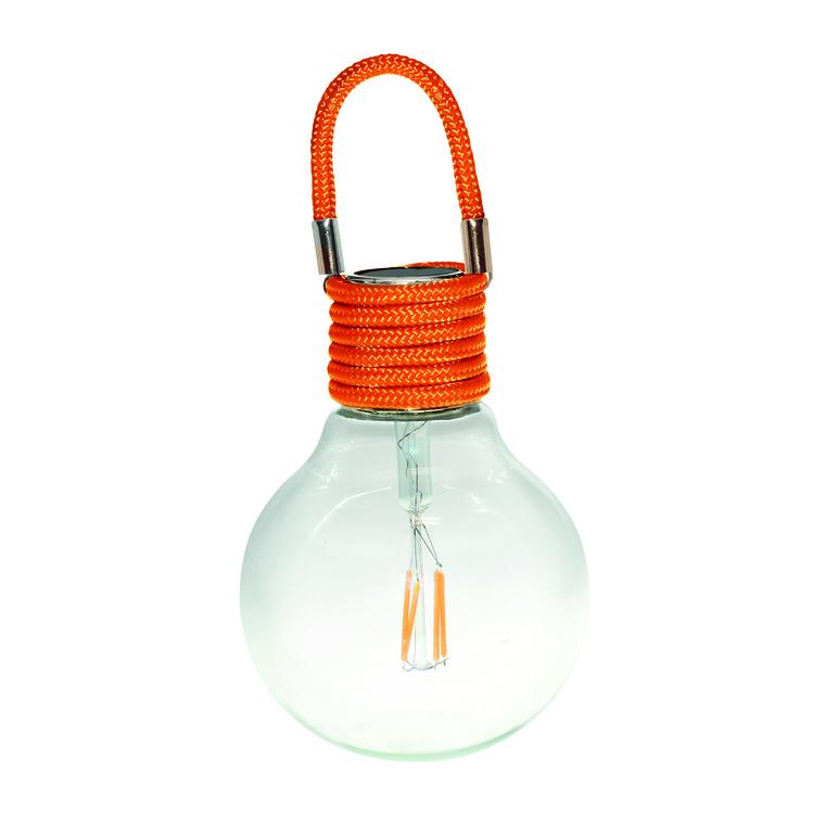 Suspension solaire Color Swing Orange à LED blanc chaud H 17 cm 504927