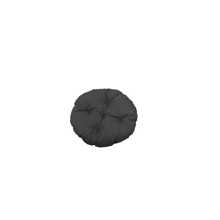 Assise futon ronde Colors Ardoise en polycoton Ø 40 cm 505443