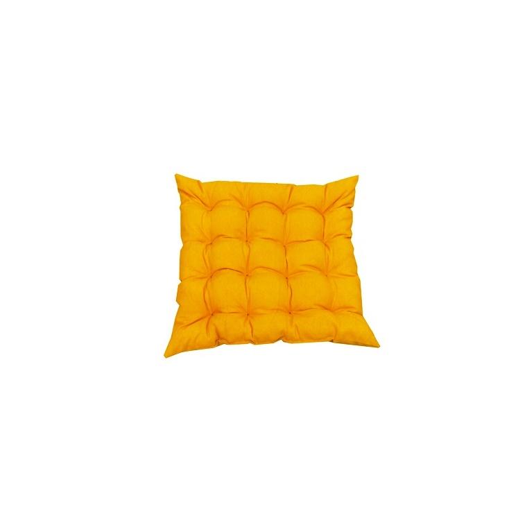 Assise futon carrée 16 Cap Colors Safran en polycoton 505450