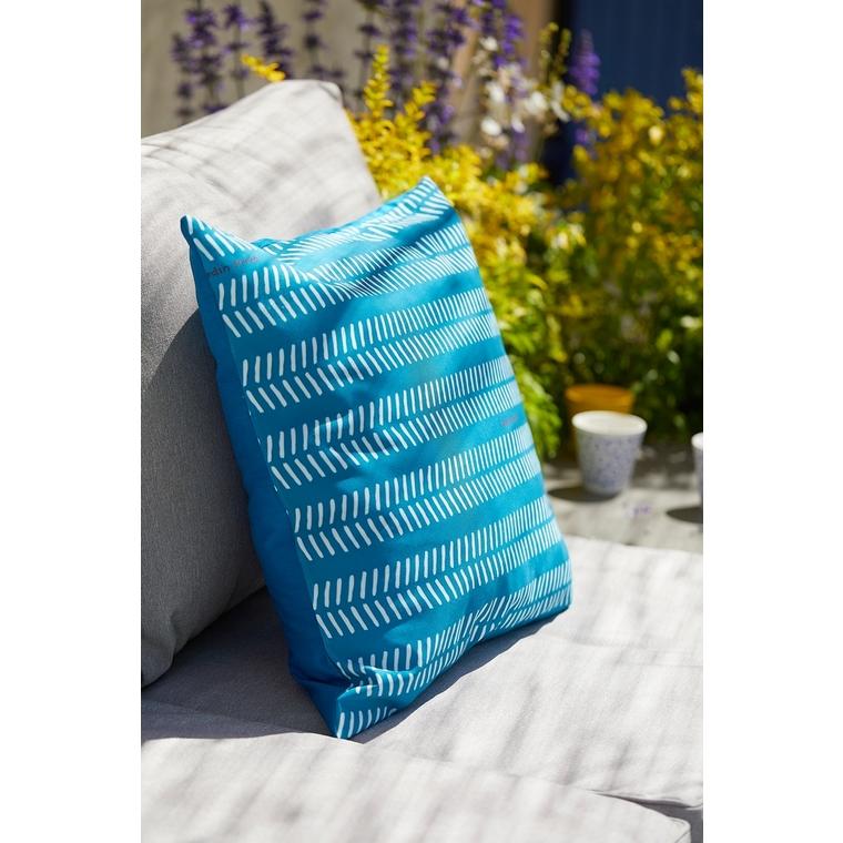 Coussin déco, polycoton, bleu, L50 X l50 X H10 cm 505473