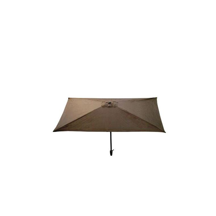 Parasol rectangulaire inclinable à manivelle taupe 200 x 300 cm 505476
