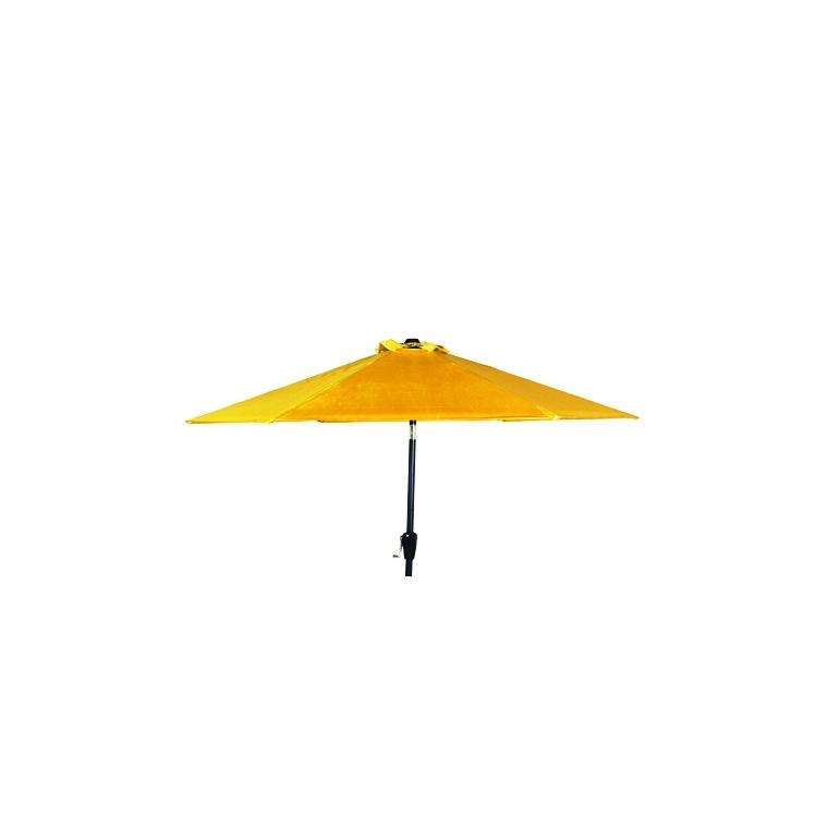 Parasol inclinable à manivelle orange Ø 250 cm 505482