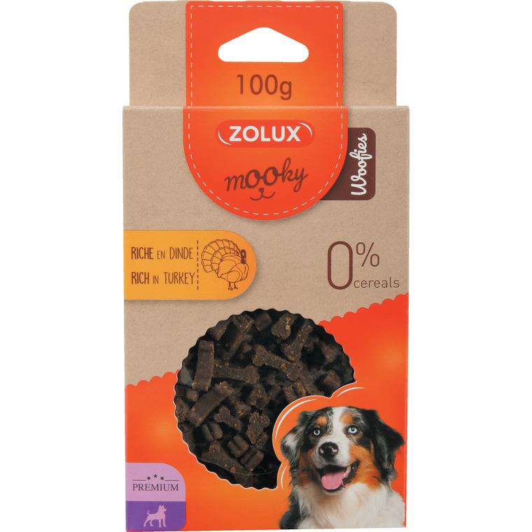 Friandises pour chien Mooky prem woofies dinde en étui de 100 g 506005