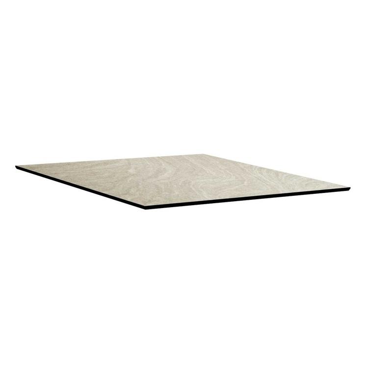 Plateau fin HPL gris sahara de 90 x 90 x 1,3 cm 506562
