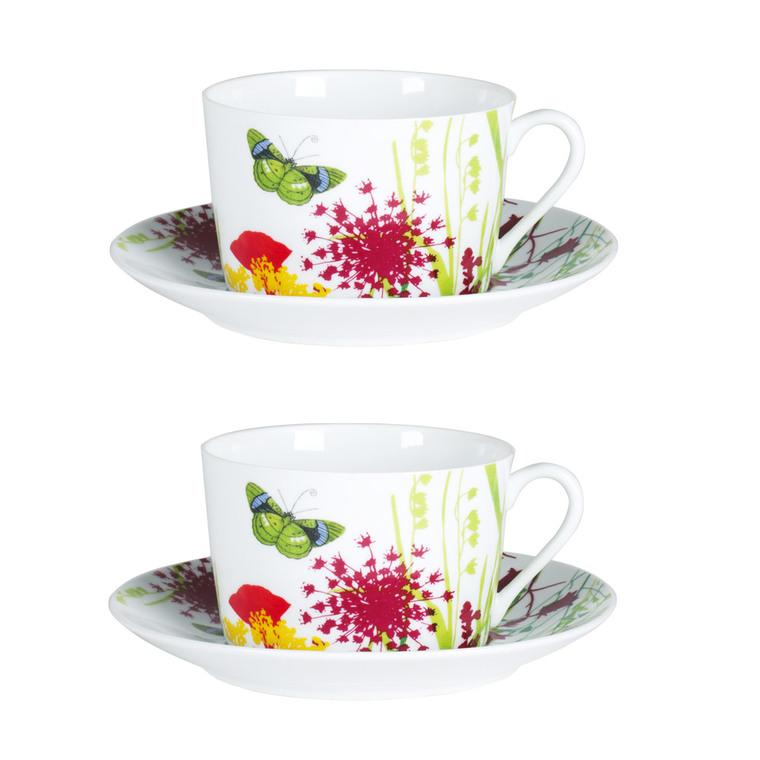 Coffret 2 tasses petit-déjeuner Tutti Fiori Ø10xH6 cm 50667