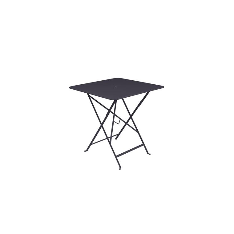 Table pliante en métal BISTRO couleur carbone L71xl71xh74 507310