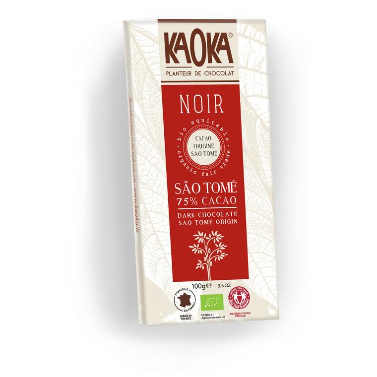 Tablette de Chocolat Noir 75% de Sao Tomé - 100 gr 51374