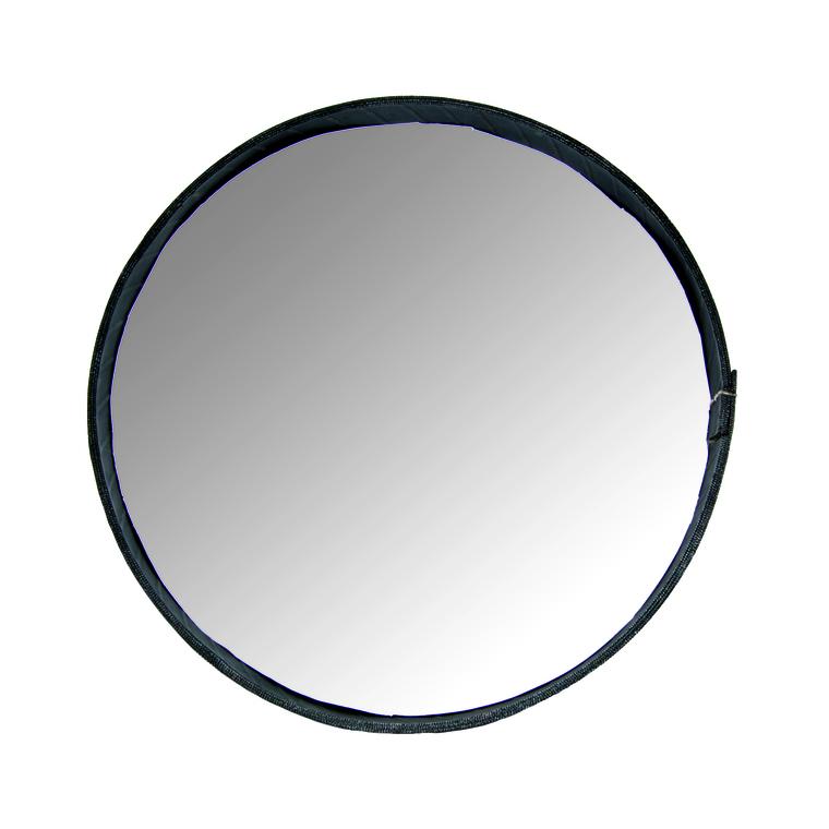 Miroir rond cerclé de pneu recyclé noir Petit modèle H 4 x Ø 27 cm 51428