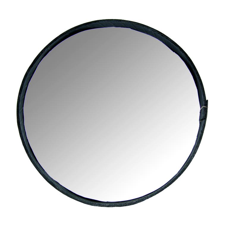 Miroir rond cerclé de pneu recyclé noir Moyen modèle H 5 x Ø 37 cm 51429