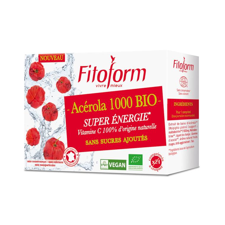 L'Acérola 1000 bio 24 comprimés 517729