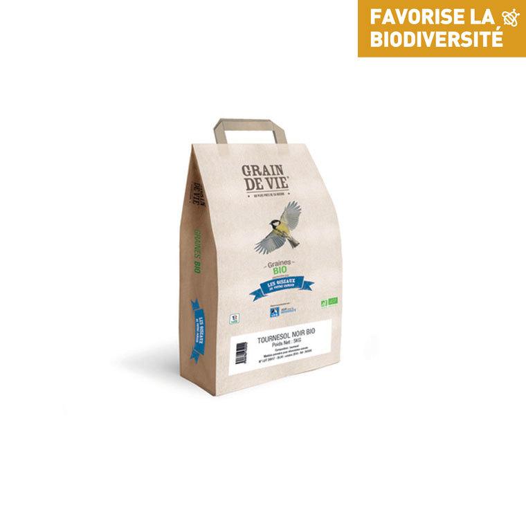Graines de tournesol noir grain de vie bio 5 kg 517933