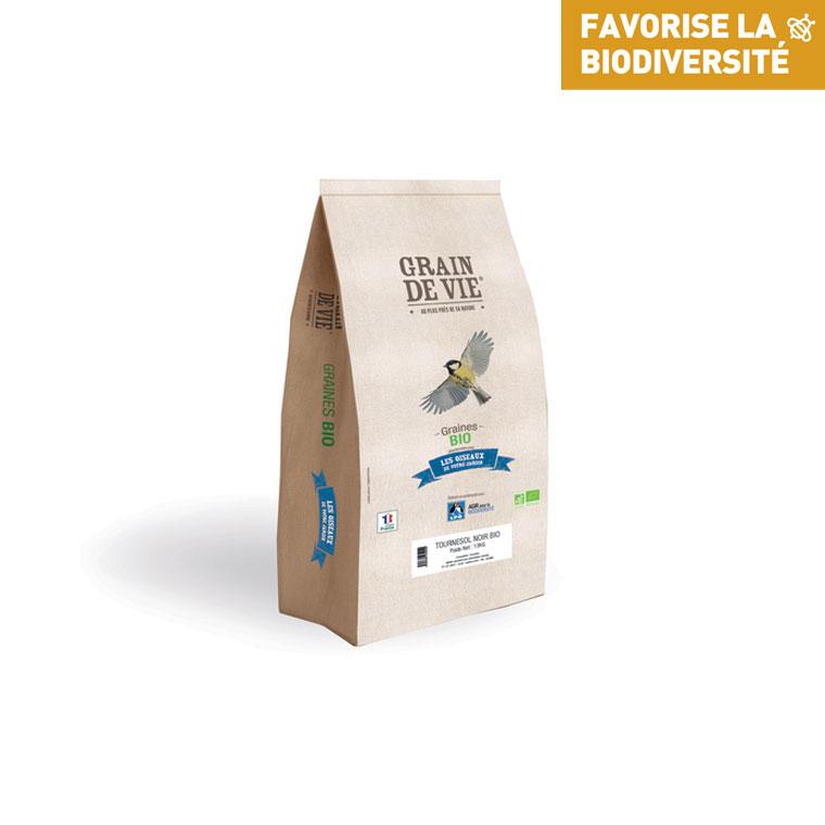Graines de tournesol noir grain de vie bio 13 kg 517934
