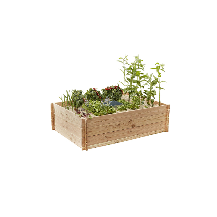 Potager composteur Keyhole en bois moyen modèle 170 x 120 x 48 cm 517947