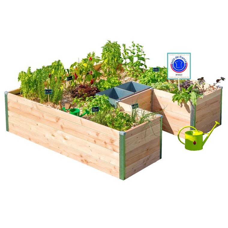Potager composteur en bois Keyhole Grand modèle 170x170x4 518189