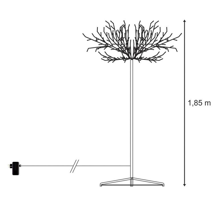 Arbre lumineux avec branches argentées