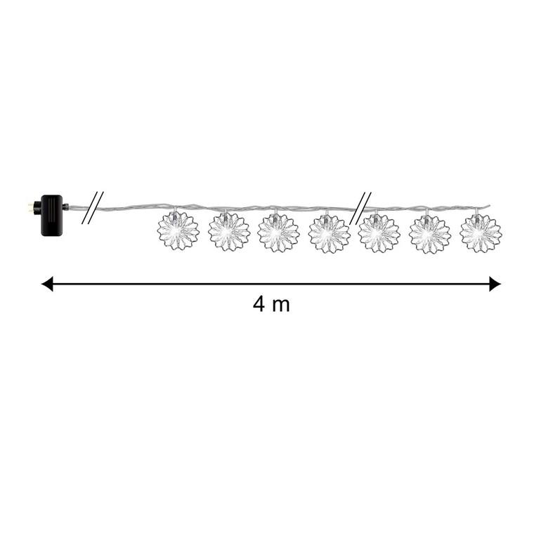 Guirlande lumineuse en métal 20 ronds crantés 4 m 52143