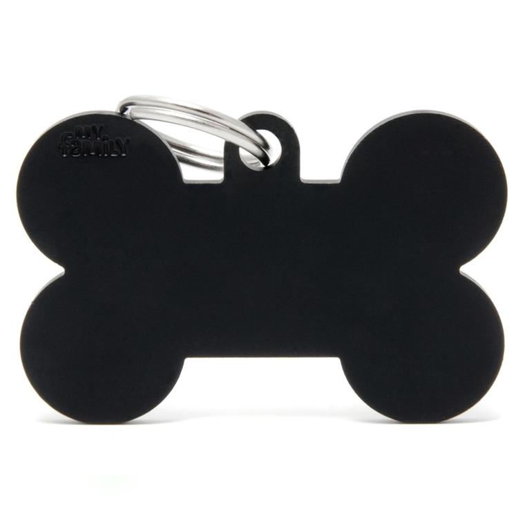 Médaille basic os XL pour chien en aluminium noir 523272