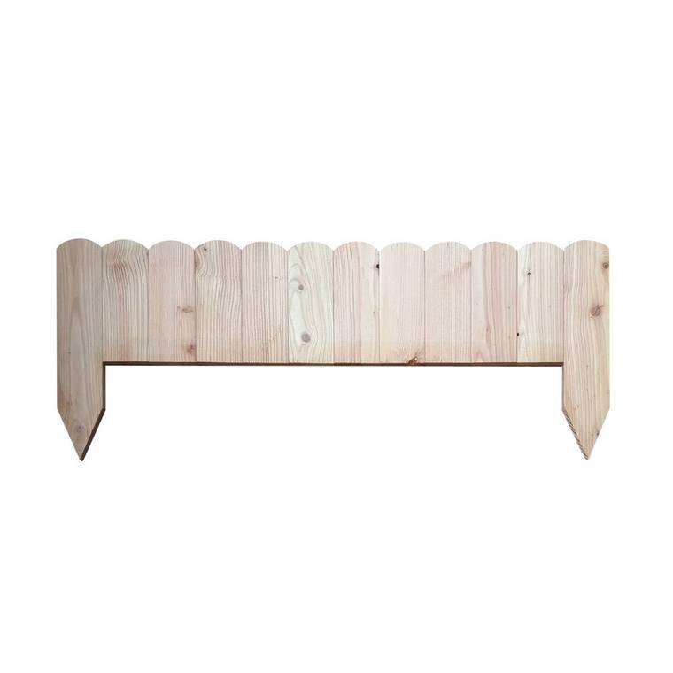 Bordure droite pleine en bois 120x30 cm 523526