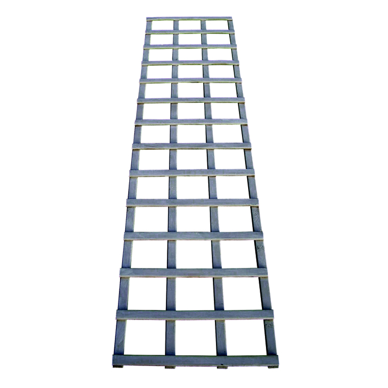 Treillis Mariana droit en bois cérusé gris 180x45 cm 523529