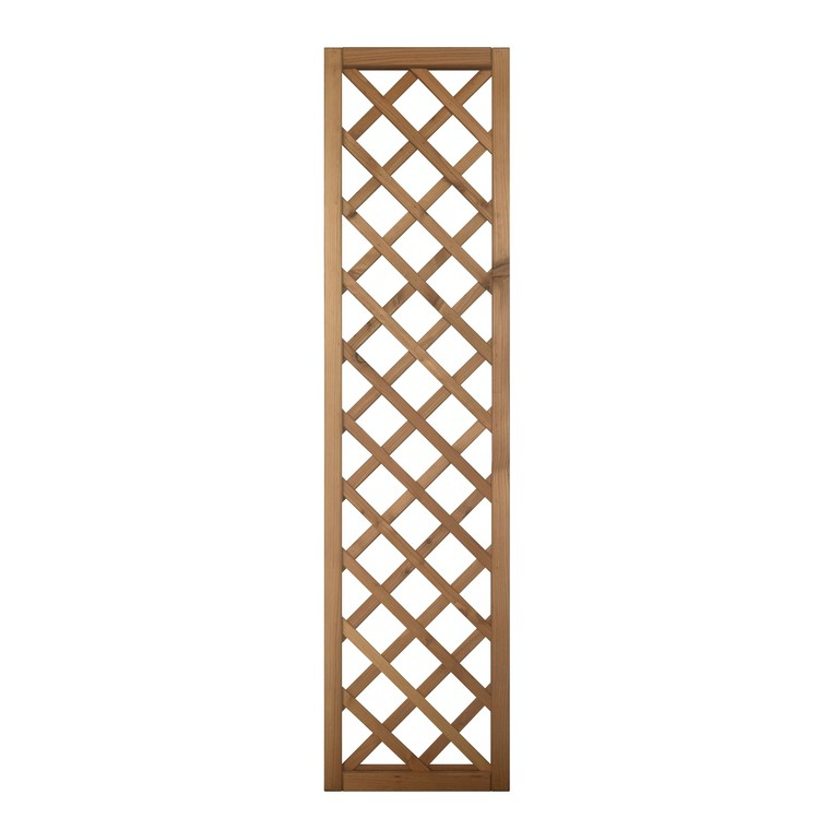Treillis Pralou diagonal en bois naturel huilé 180x45 cm 523531
