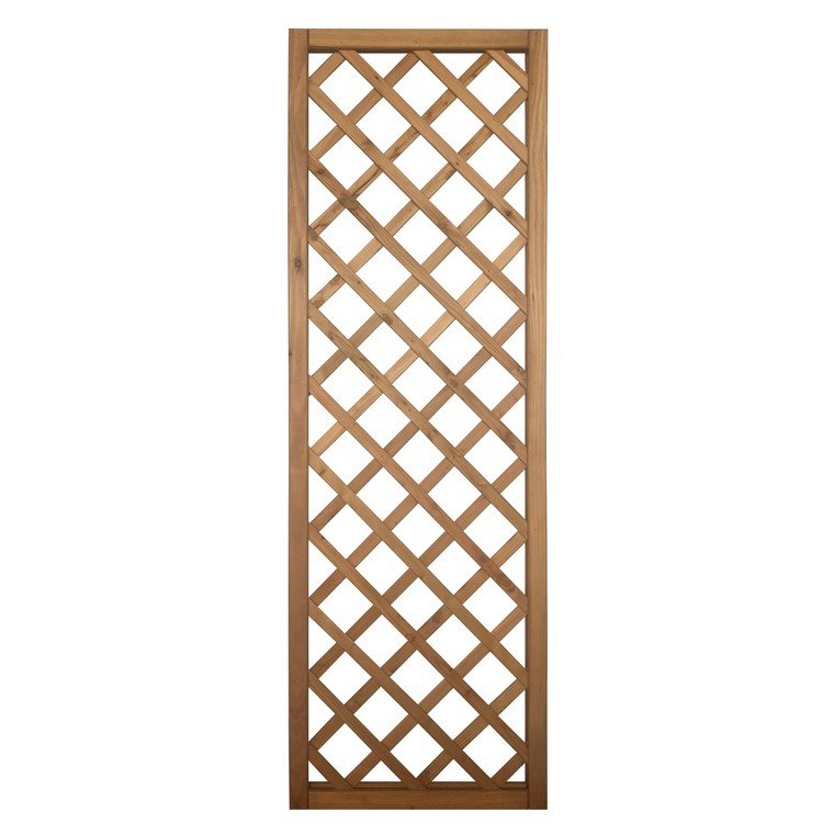 Treillis Pralou diagonal en bois naturel huilé 180x60 cm 523532