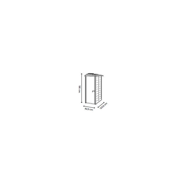 Abri mural latéral réversible EVO en résine beige 88x132x195 cm livré 523535