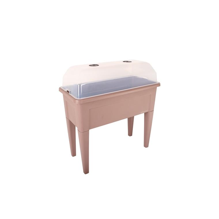 Table de culture potagère Veneza Taupe à réserve d'eau 101x146,5x82 cm 523548