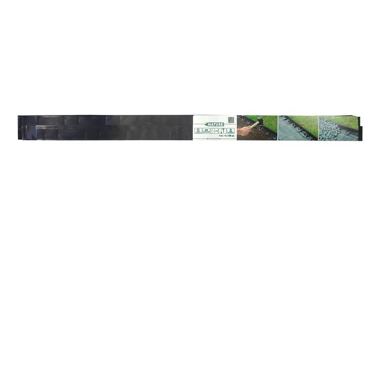 Bordure à gazon à poser x 4 + 16 ancres de fixation 1 mètre x H 4,5 cm 523569