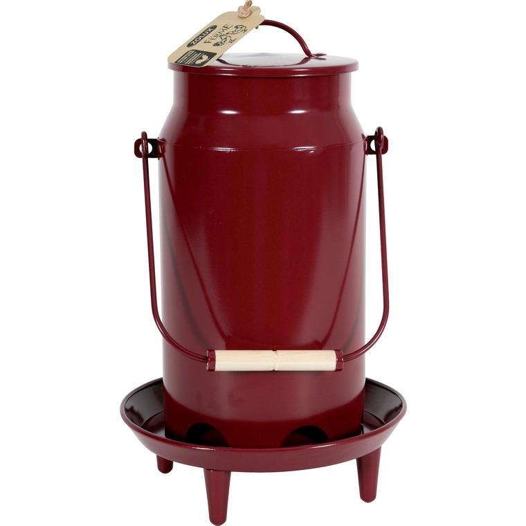 Mangeoire trémie en forme de broc rouge Grenat 3,5 L 523887