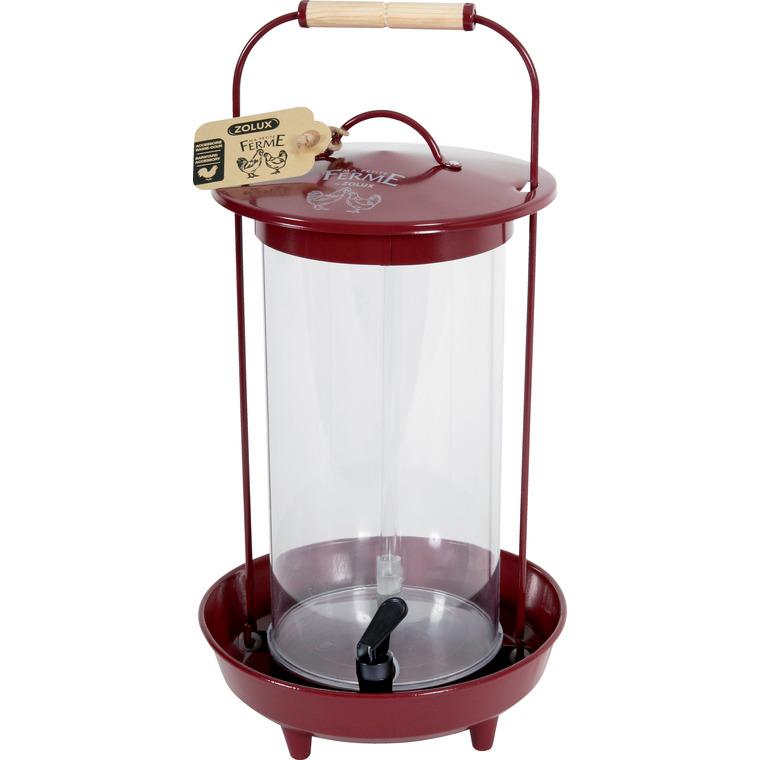 Abreuvoir transparent en métal rouge Grenat 4 L 523889