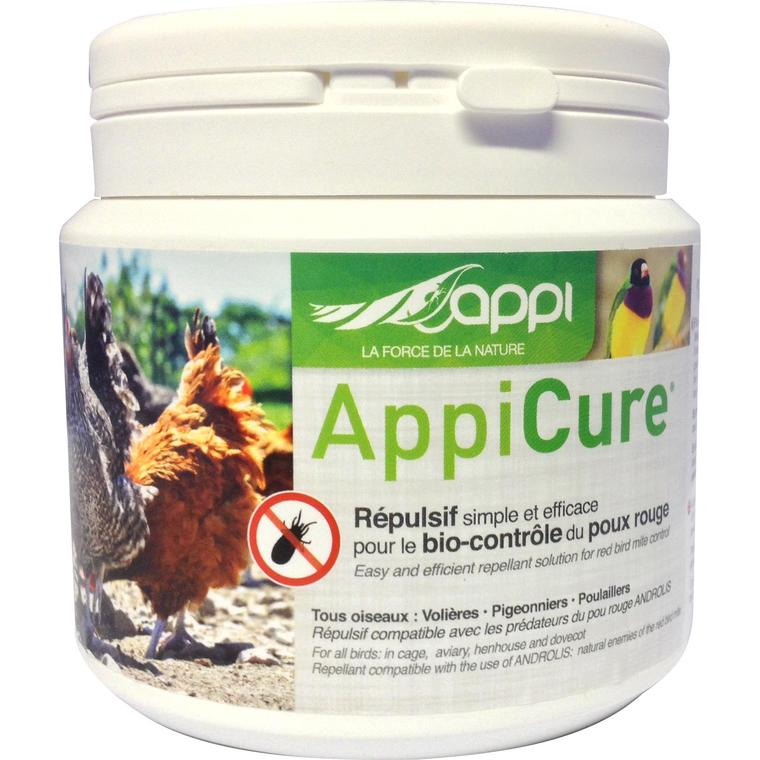 Poudre Appicure répulsive poux rouges en pot blanc de 300 g 523987