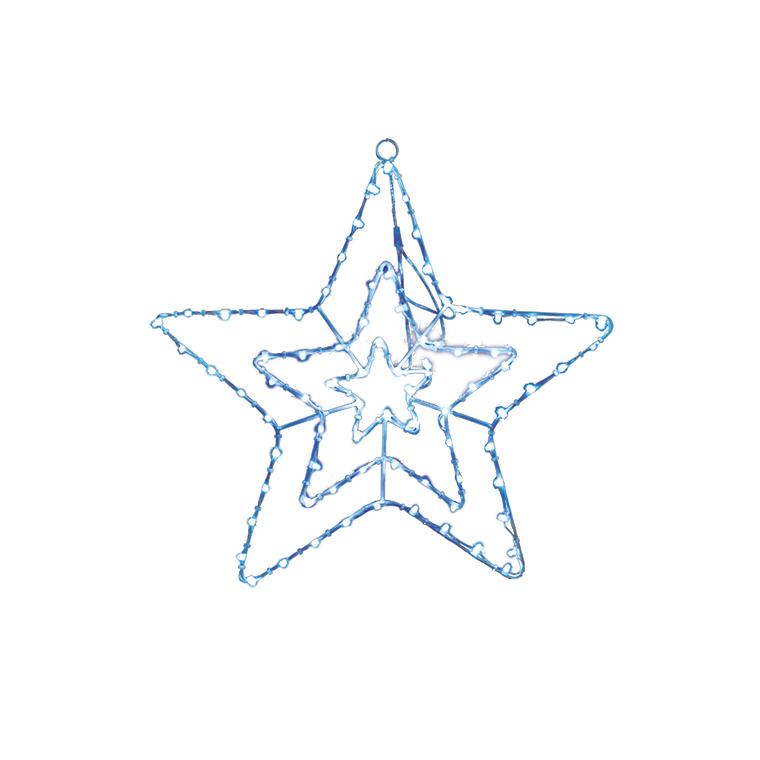 Motif étoile blanche et bleue 59 cm de hauteur 52447